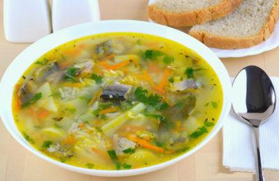 Суп с консервированной сардиной