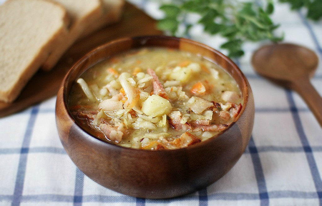 Суп-толченка с капустой