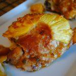 Курица с ананасами запеченная в духовке