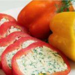 Фаршированный перец с сыром