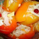 Фаршированный перец в маринаде