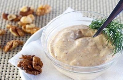соус с орехами к салатам и рыбным блюдам