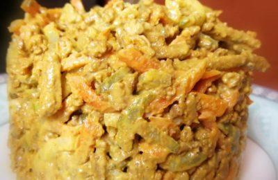 Как приготовить салат из печени с кукурузой