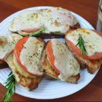 Сочные бутерброды с баклажанами